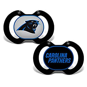 Baby Fanatic Carolina Panthers 2 Piece Pacifier Set by Baby ...