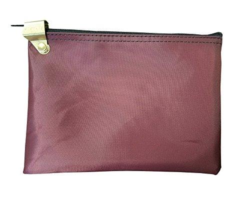Medication Zipper Hood Security Bag (Burgundy)