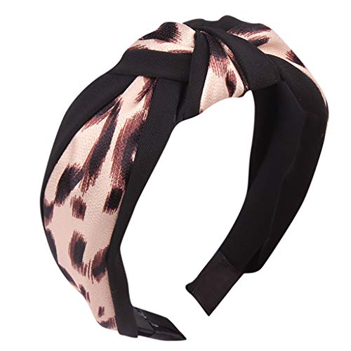 Iusun Bow Knot Hairband Leopard Hair Head Hoop Accessory Wedding Festival Holiday Cosplay Christmas Halloween Party Valentine's Day New Year Decoration