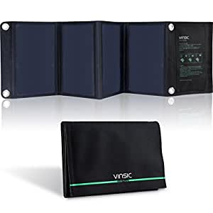 Vinsic 22Watt Portable and Foldable Dual-Port Solar Panel Charger