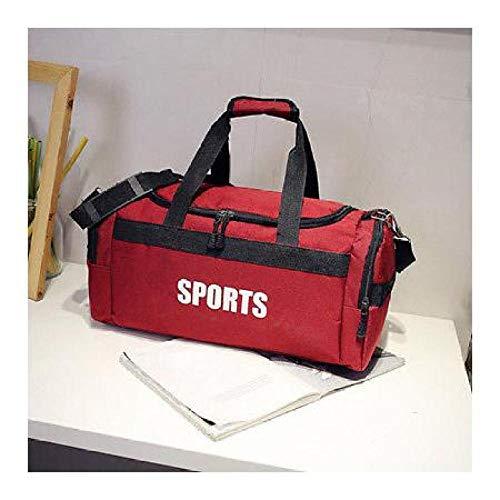 FidgetGear Travel Gym Bag Sport with Pocket Shoe Waterproof Work out All Purpose Duffle Bag Red (B Style) from FidgetGear