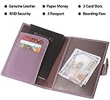 Genuine Leather Passport Holder Cover Case Rfid