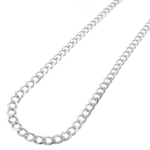 """Sterling Silver Italian 4.5mm Cuban Curb Link ITProlux Solid 925 Necklace Chain 16"""" - 24"""" (20)"""