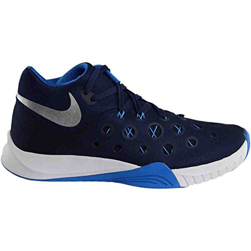 metallic photo TB blue midnight Shoes NIKE Mesh silver Hyperquickness Zoom 2015 Basketball Mens navy ZM 1BPgA