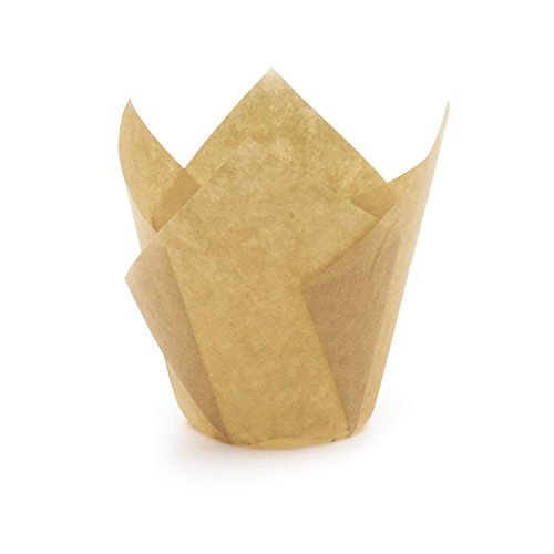 (Gold Tulip Baking Cups, Mini Size, Pack of 50)