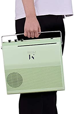 Tocadiscos portátil de 7 pulgadas con 2 velocidades (33/45 rpm ...