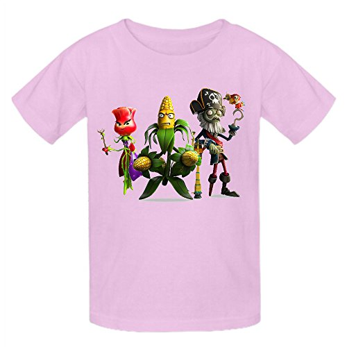 Toypop Plants Vs Zombies Youth Cotton O Short Sleeve Custom Pink]()