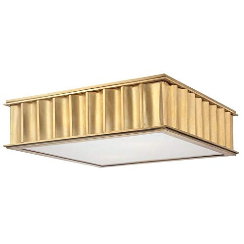- Hudson Valley Lighting 932-AGB Middlebury Collection - Three Light Flush Mount, Aged Brass Finish