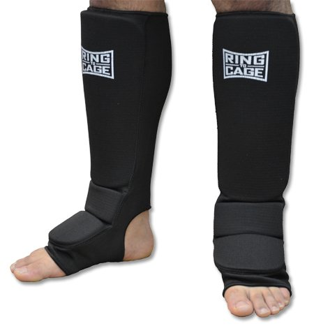 Pro Slip-on cloth shin instep for Muay Thai, MMA, Kickboxing, stand up (X-Small (Kids))