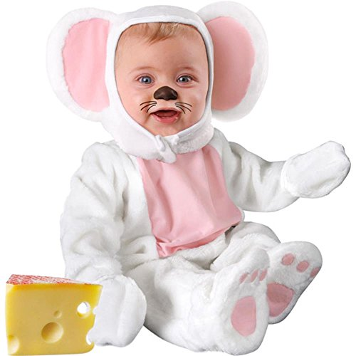 [Infant Baby White Mouse Halloween Costume (6-12 Months)] (6 Character Halloween Costumes)