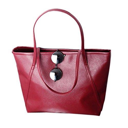 Noir Agrandir Rouge capacités Tonsee® Hiver cuir New femmes Sac des Simple Messenge des PqHOg