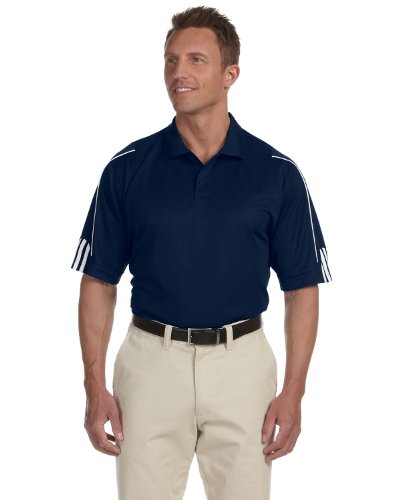 Adidas Men's 3-Stripes Contrast Piping Polo Shirt, Collegiate Navy/ White, ()