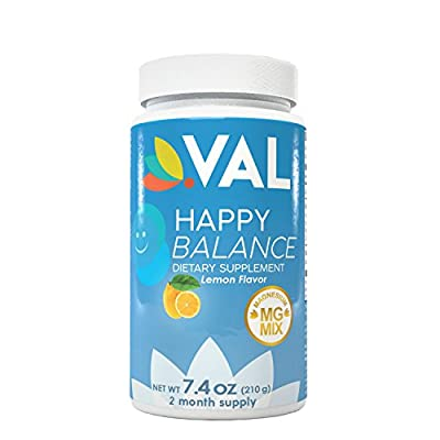 NEW Serotonin Mood Booster for Anxiety Relief, Wellness and Happy Balance Drink by VAL |2 month supply| Powerful Magnesium Citrate, Glycinate, Chelate, L-Tryptophan & B6 | Replace Antidepressants