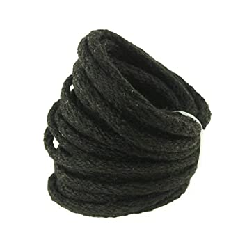 Homeford Firefly Imports Wired Jute Cord Rope 8mm Black, 9 Yards
