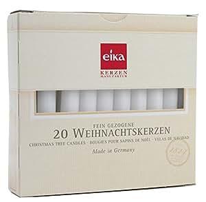 EIKA Caja de 20 Velas Finas Blanco