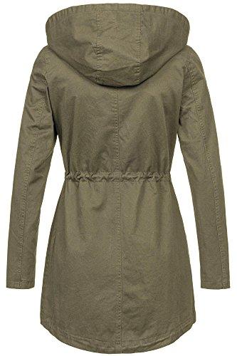 in stock b3ec8 20337 Golden Brands Selection Leichte Damen Jacke Übergangsjacke mit Kapuze  Mantel Parka Baumwolle S-XL B495