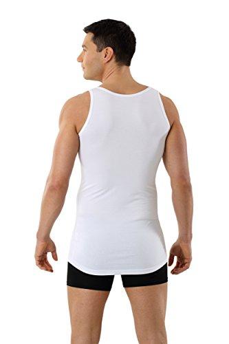 ALBERT KREUZ Trägerunterhemd Business Herrenunterhemd aus Stretch-Baumwolle ohne Arm mit tiefem Rundausschnitt weiß