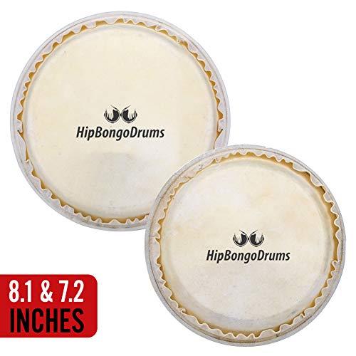 (Hip Bongo Drums Bongo Heads Replacement Pack 7.2