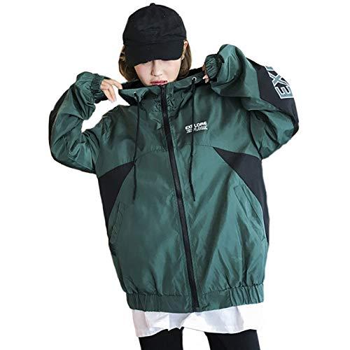 JIAKENVDE Printed Tops Frau Jacke Mantel Herbst Kapuze Winddicht Mantel Zip Jacke Frauen Winter Dicke Unisex Jacke