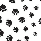Suttons wrap - Carta regalo con motivo stampato impronte cane e gatto , 5 fogli