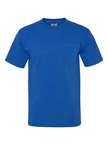 Bayside Union Made in the USA Short Sleeve Pocket T-Shirt 3015 L Royal Blue (3015 Bayside Union)