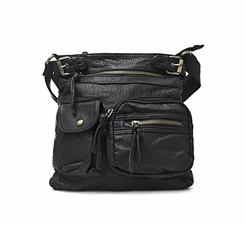 T4T Styles: DG Inspired Spacious Crossbody for Young Women and Girl Handbag (Black)