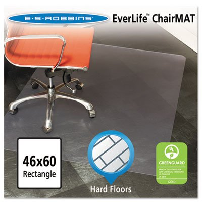 46x60 Rectangle Chair Mat, Multi-Task Series for Hard Floors, Heavier Use, Sold as 1 Each by ES Robbins