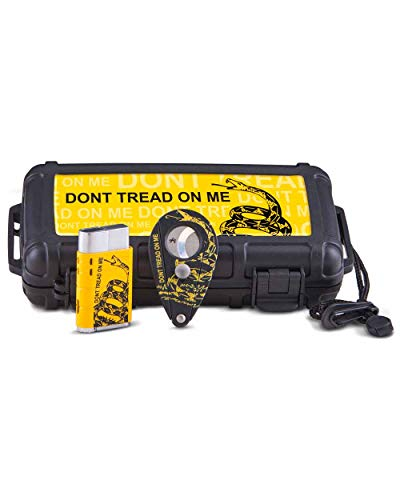 Cigar Caddy 5 Stick - Don't Tread on Me Limited Edition 5 Stick Case Cutter Lighter Gift Pack Warranty