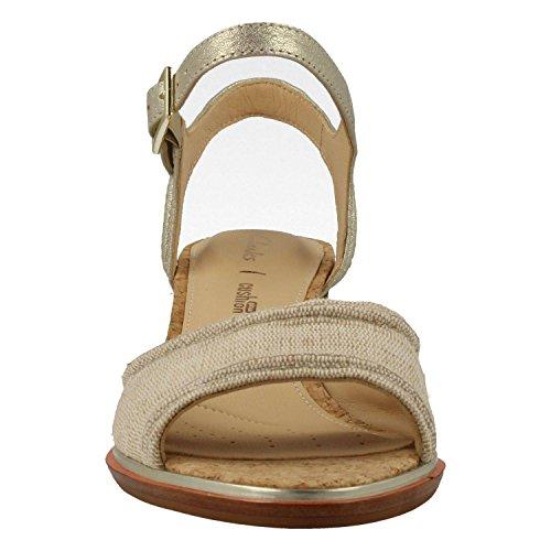 Metallic Sandal Womens Clara Clarks Beige Ellis OIpwxx