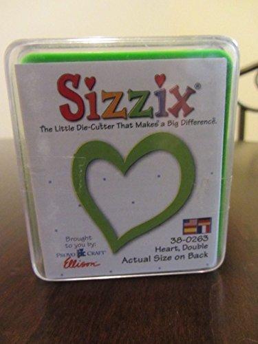 (Sizzix Originals Double Heart Die with steel-rule)