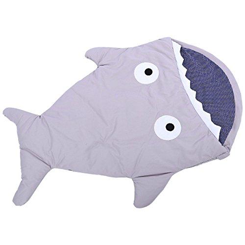 Babies Thick Shark Sleep Bag (Gray) - 4
