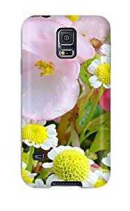 Protective Tpu Case With Fashion Design For Galaxy S5 (amazing Vibrant Spring Flowers)