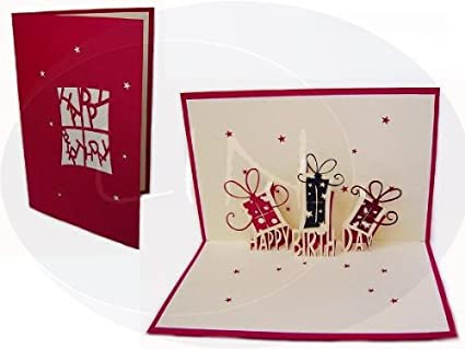 3d tarjeta Pop-Up de cumpleaños, diseño de regalos de regalo ...