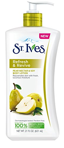 St. Ives Refresh and Revives Body Lotion, Pear Nectar and Soy, 21 Ounce