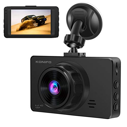 KONIFO Dash Cam For Cars,Full HD 1080P / 1296P Dashboard Camera Mini Camcorder WDR Car DVR Video Recorder With Night Vision,170° Wide Angle,Loop Recording,G-Sensor,Motion Detection and Parking Monitor