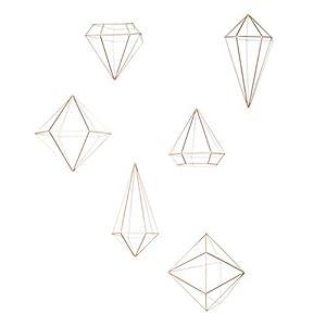 Umbra Prisma Decorative Accents, Set of 6, Copper