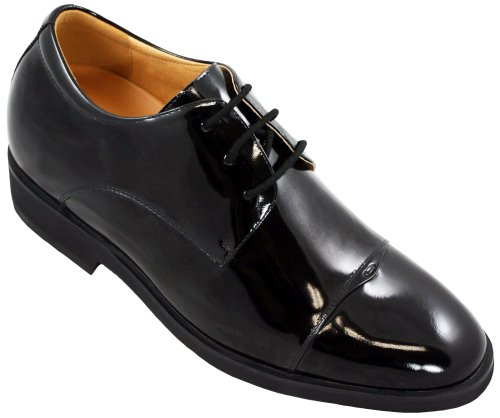 TOTO - X5502 - 2.6 Inches Taller - Size 11.5 D US - Height Increasing Elevator Shoes (Black Patent Leather Lace up Formal Dress Shoes) - Perfect for wedding by Toto