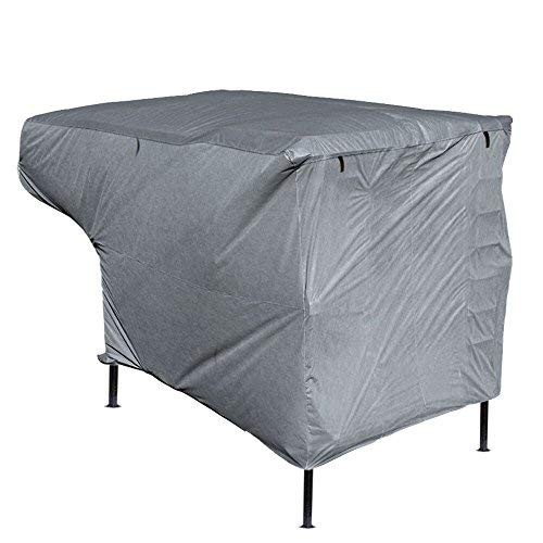 Leader Accessories New Easy Setup RV Trailer Cover Fits 10'-12' Truck Camper with Assist Poles - Cover Lance