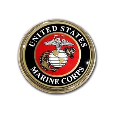US Marine Corps USMC Gold Seal Auto Car Truck Motorcycle Emblem: Automotive