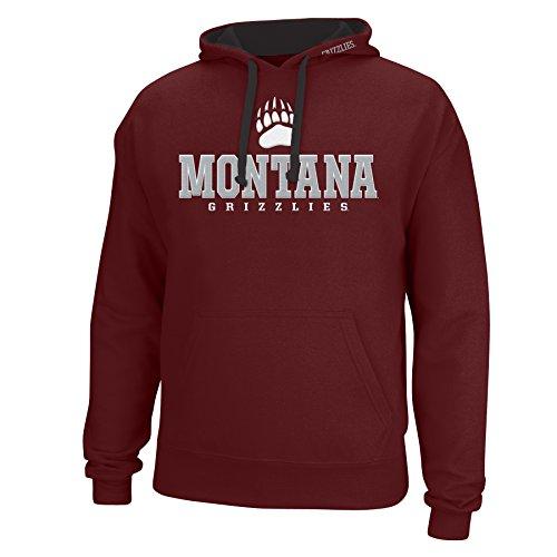 NCAA Montana Grizzlies Men's Logo School Name Foundation Hoodie, X-Large, Maroon/Black