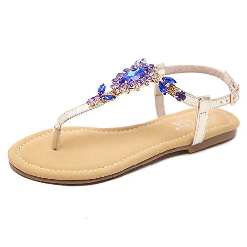 de Sandalias Plano con Golden de Mujer portabrocas Sandalia para Sandalias Agua Pulsera Verano y Mujer Zapatos Fondo de Playa Mujer de U4UwF