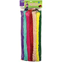 "Chenille Kraft 7184 Super Colossal Pipe Cleaners, 18"" x 1"", Metal Wire, Polyester, 24 Colors (CKC7184)"