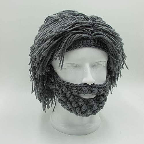 Mad Scientist Rasta Caveman Handmade Knit Warm Winter Fashion Joggers Crop Caps Men Women Funny Party Mask Beanies Bu78(Black,one Size) ()