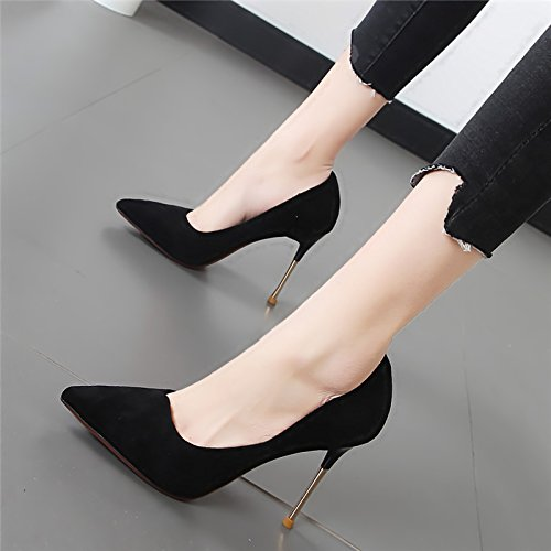 Xue Qiqi Tipp fein mit high-heel Schuhe flache Mund einzelne Schuhe Frauen Schuhe