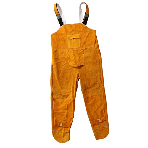 Flameer Flame Retardant Overalls Welding Welder Boilersuit Coverall Cowhide Leahter