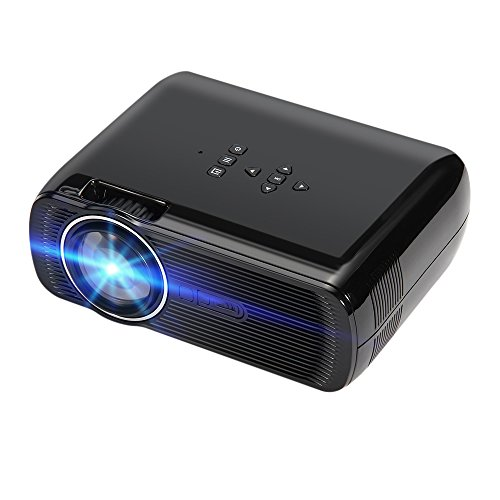 GUORZOM Projector CTL80 1800Lu Portable Mini Full HD 1080P LED 3D Projector Android 6.0 Wifi Smart Home Theater Beamer Proyector, Black