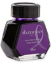 Waterman 1.7 oz Ink Bottle for Fountain Pens, Tender Purple (S0110750)