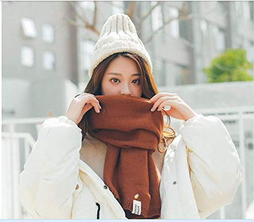 Caramel Oak Long Scarf Autumn and winter thick warm scarf scarf women's winter wild color long sweet (color   Caramel Oak) Fashion Scarf