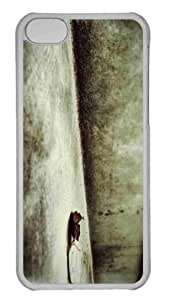 Customized iphone 5C PC Transparent Case - Weathered Leaf Personalized Cover