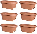 Cheap 24″ Clay Rail Planter